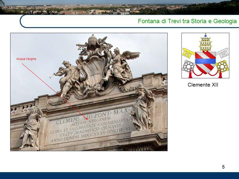 5 Fontana di Trevi tra Storia e Geologia Clemente XII Acqua Vergine