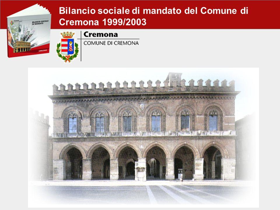 Bilancio sociale di mandato del Comune di Cremona 1999/2003