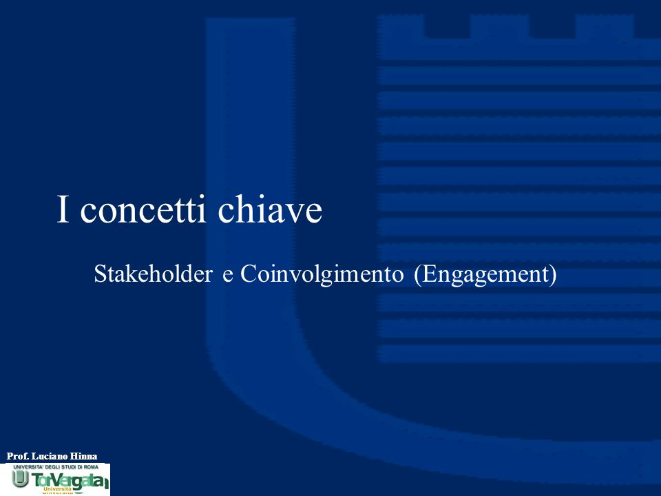I concetti chiave Stakeholder e Coinvolgimento (Engagement)