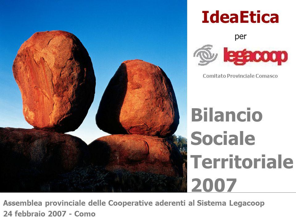 IdeaEtica per Bilancio Sociale Territoriale 2007 Comitato Provinciale Comasco Assemblea provinciale delle Cooperative aderenti al Sistema Legacoop 24 febbraio 2007 - Como