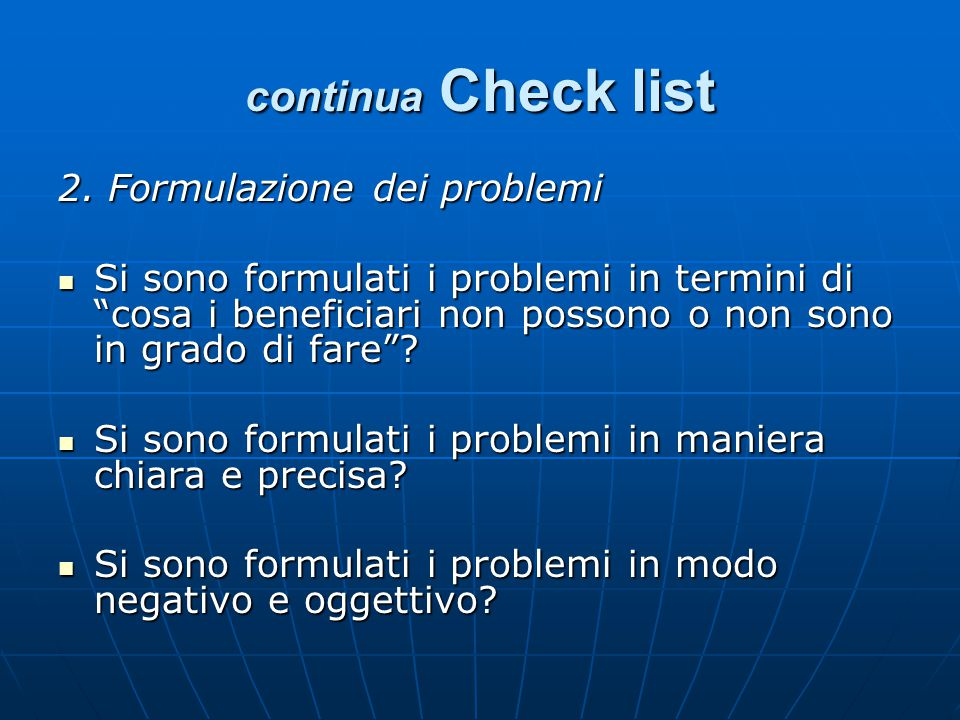 continua Check list 2.