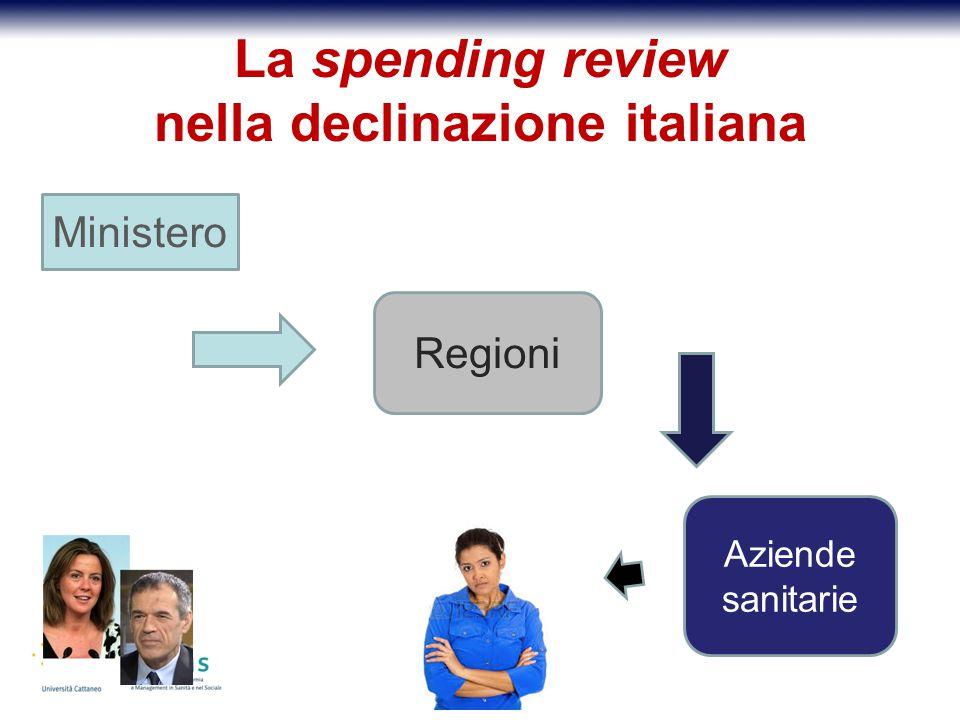 La spending review nella declinazione italiana Ministero Regioni Aziende sanitarie