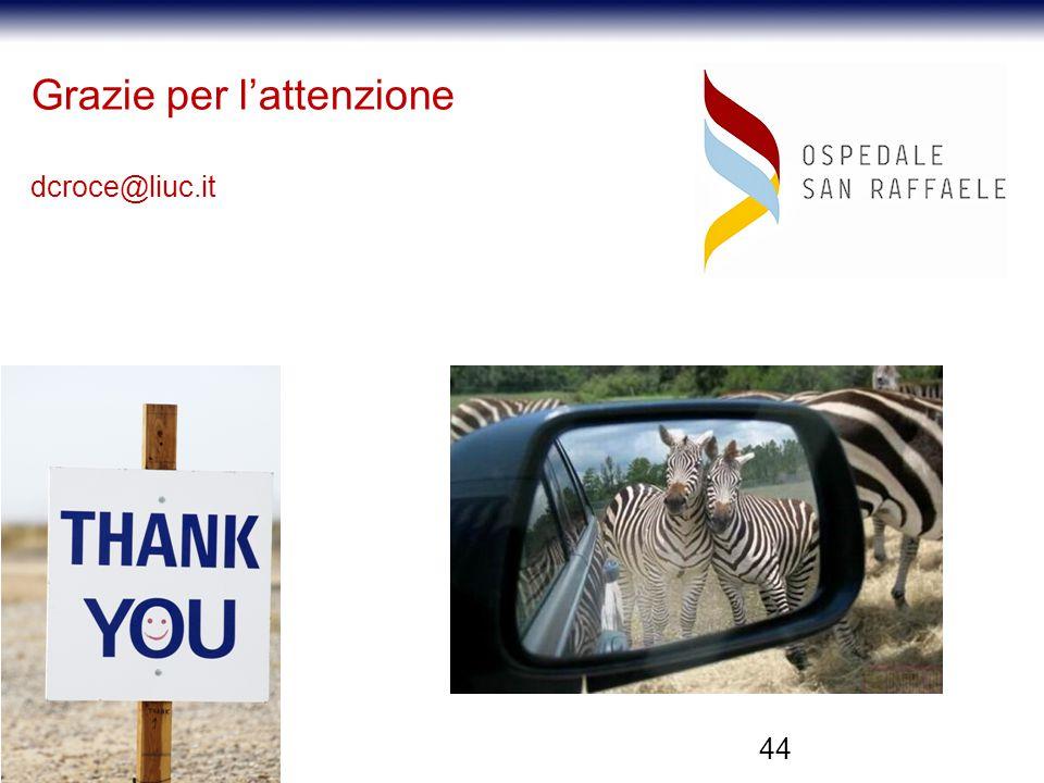 44 Grazie per l'attenzione dcroce@liuc.it