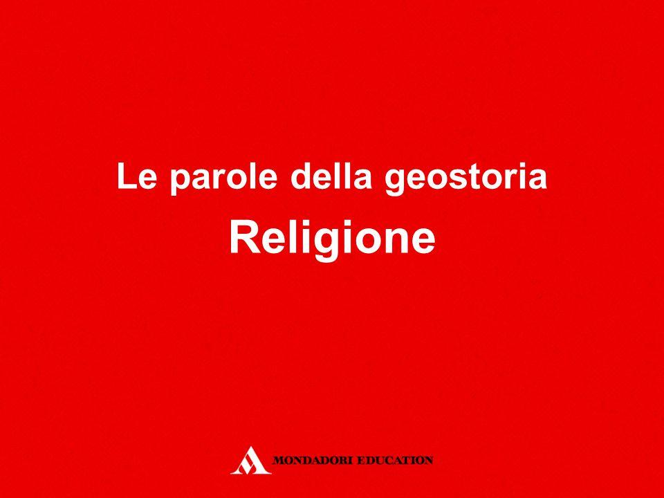 Le parole della geostoria Religione