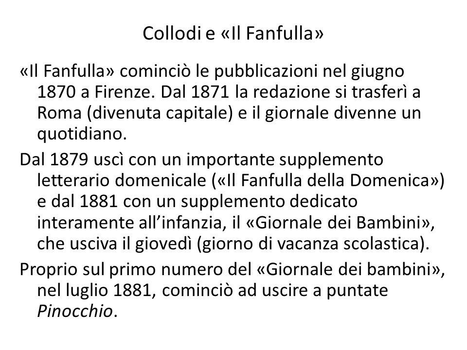 Collodi e «Il Fanfulla» «Il Fanfulla» cominciò le pubblicazioni nel giugno 1870 a Firenze. Dal 1871 la redazione si trasferì a Roma (divenuta capitale