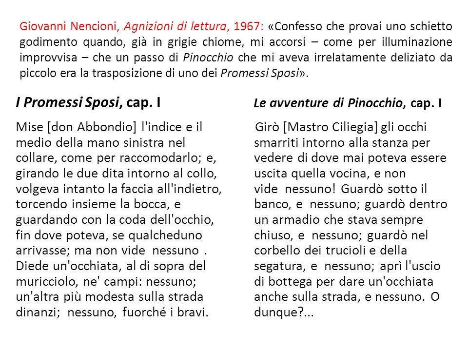 Giovanni Nencioni, Agnizioni di lettura, 1967: «Confesso che provai uno schietto godimento quando, già in grigie chiome, mi accorsi – come per illumin