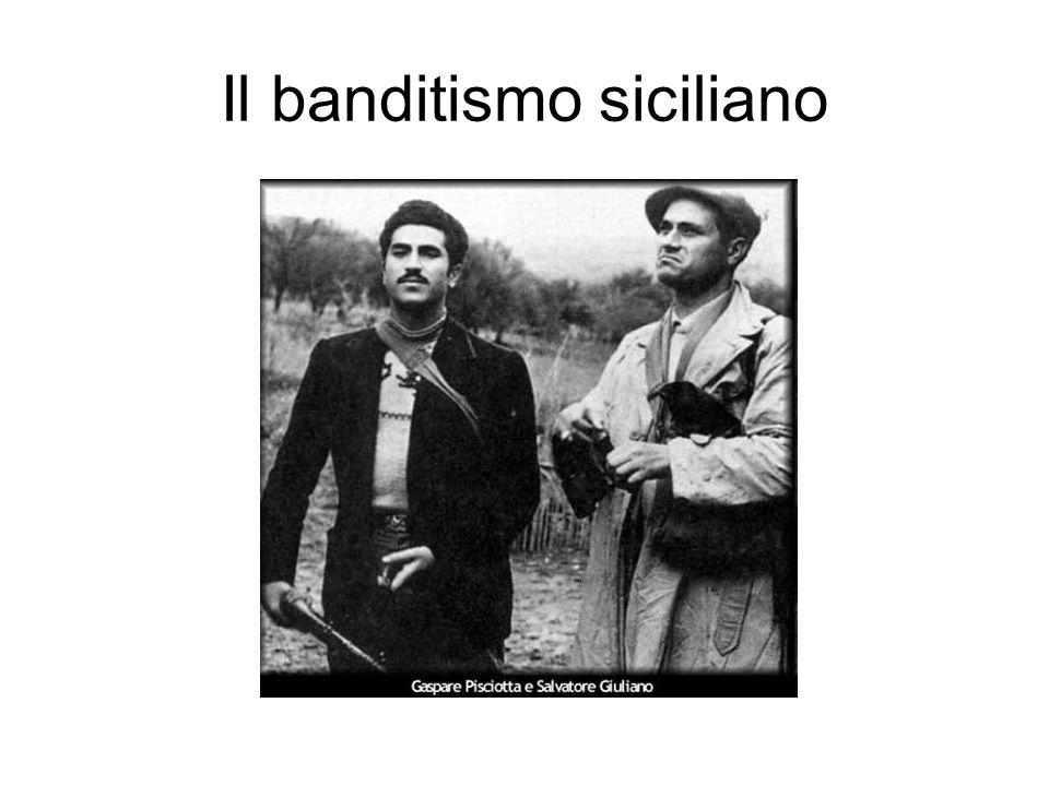 Salvatore Giuliano Da contrabbandiere a latitante (1943) Creazione di una banda di banditi contatti con il Movimento Indipendentista Siciliano (MIS); entra poi, spinto da esponenti dell intelligence U.S.A., nell E.V.I.S.