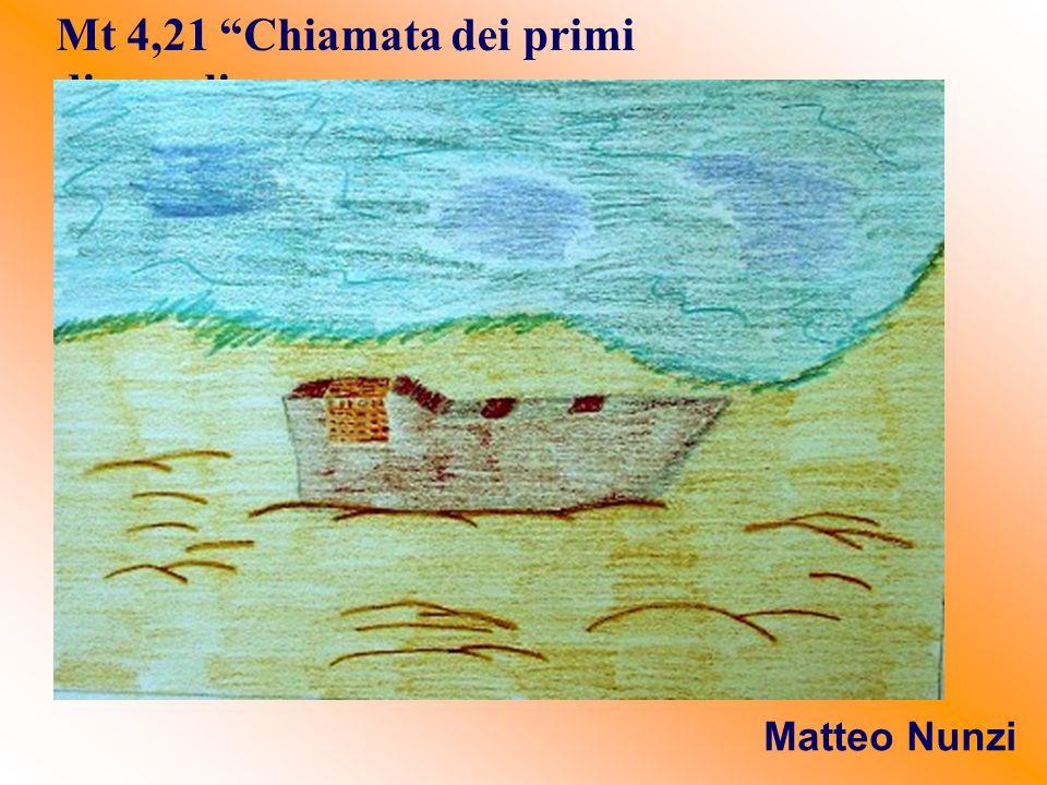 """Mt 4,21 """"Chiamata dei primi discepoli Matteo Nunzi"""