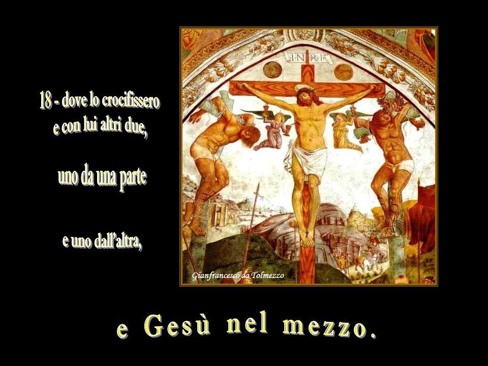 [11]Rispose Gesù: «Tu non avresti nessun potere su di me, se non ti fosse stato dato dall alto.