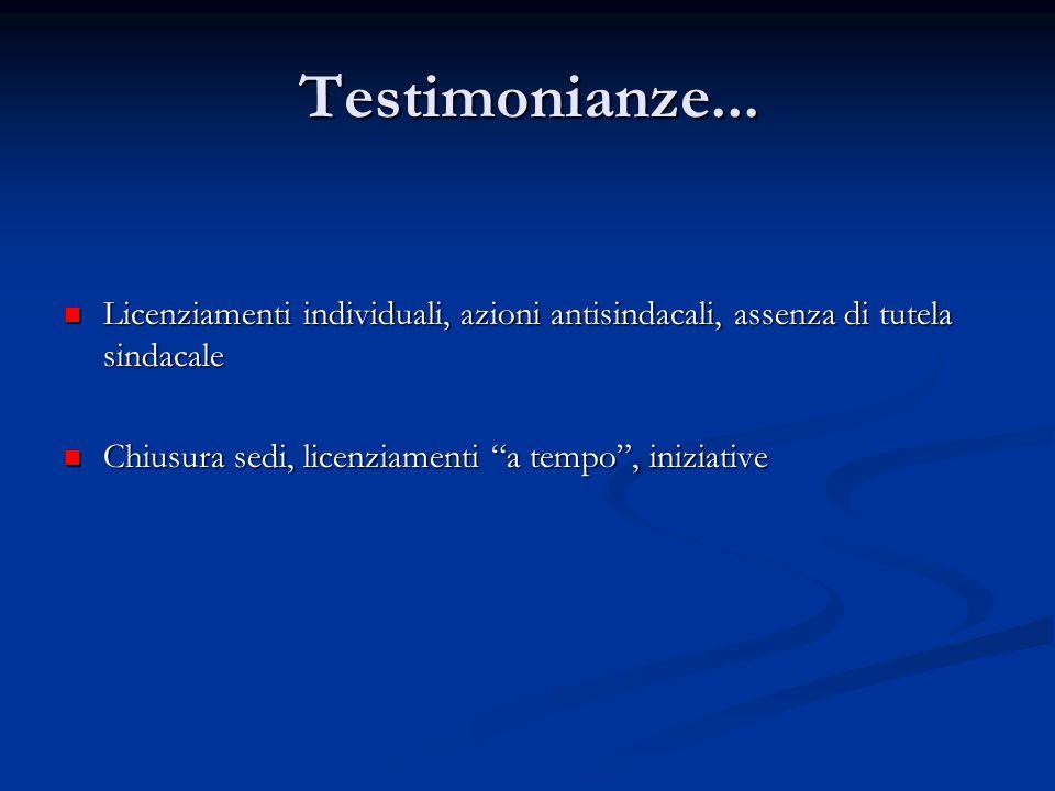 Testimonianze...