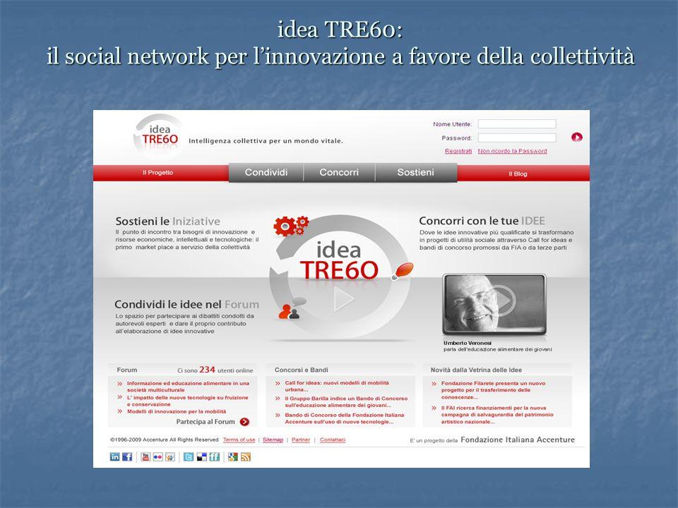 idea TRE60: il social network per l'innovazione a favore della collettività