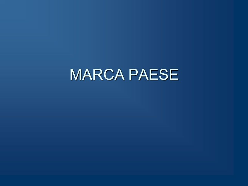 MARCA PAESE