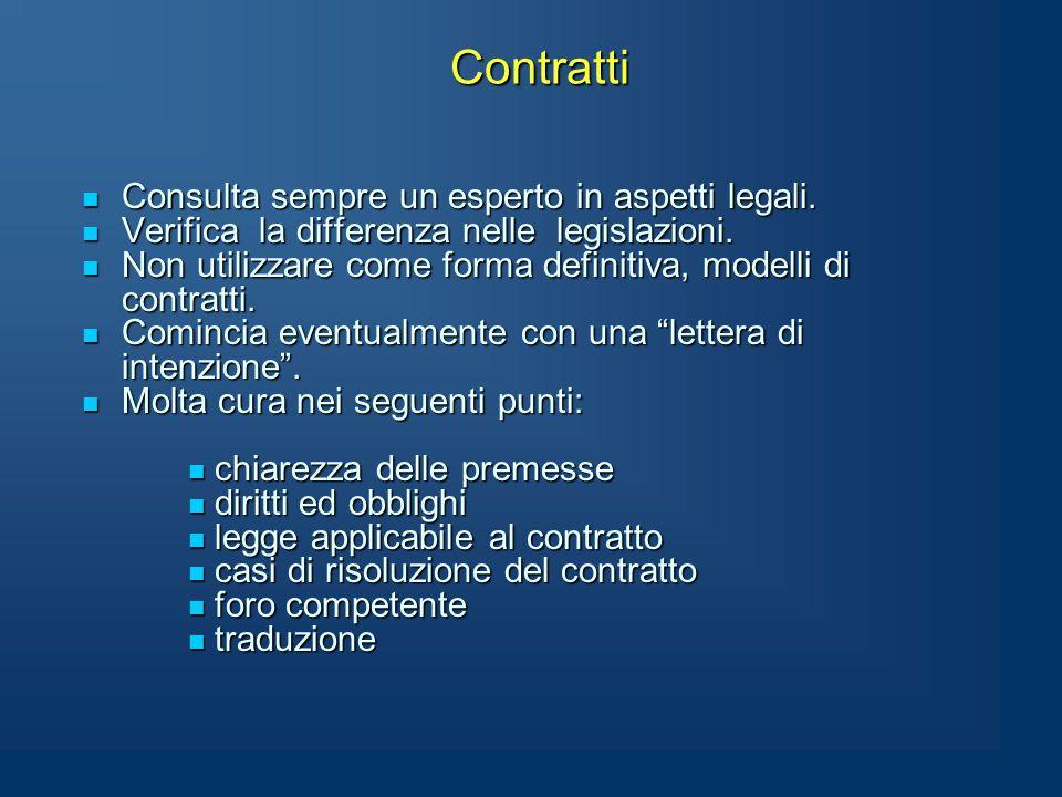 Contratti Consulta sempre un esperto in aspetti legali.