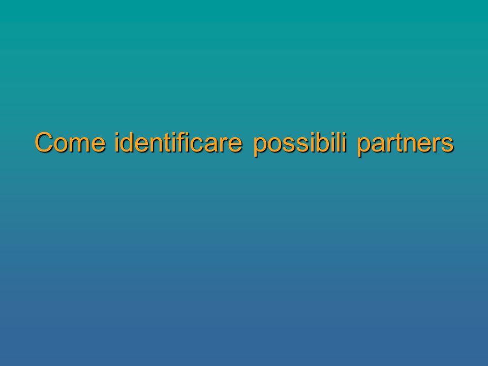 Come identificare possibili partners