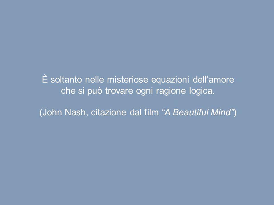 """È soltanto nelle misteriose equazioni dell'amore che si può trovare ogni ragione logica. (John Nash, citazione dal film """"A Beautiful Mind"""")"""