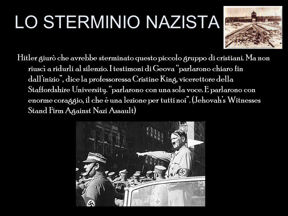 """Hitler giurò che avrebbe sterminato questo piccolo gruppo di cristiani. Ma non riuscì a ridurli al silenzio. I testimoni di Geova """"parlarono chiaro fi"""