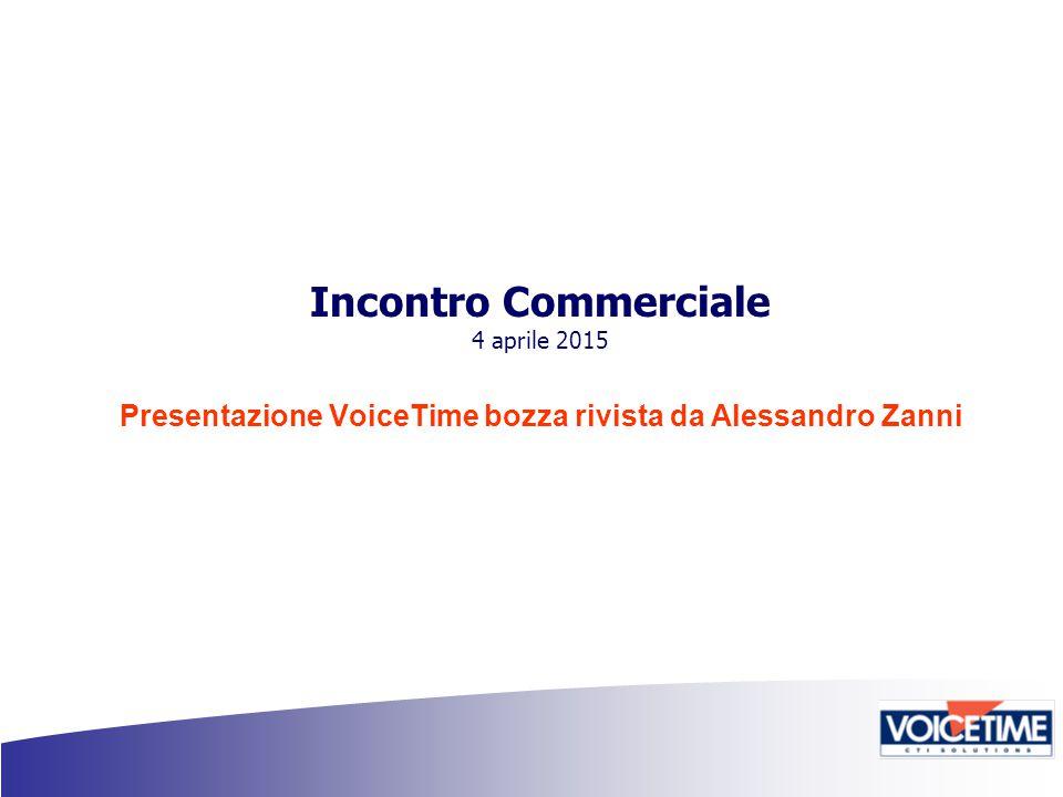 Incontro Commerciale 4 aprile 2015 Presentazione VoiceTime bozza rivista da Alessandro Zanni