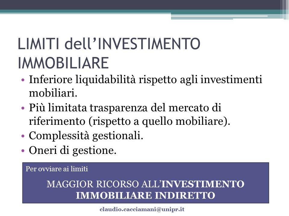 VALUTAZIONE dell'INVESTIMENTO IMMOBILIARE La valutazione di un investimento immobiliare è un'operazione complessa.
