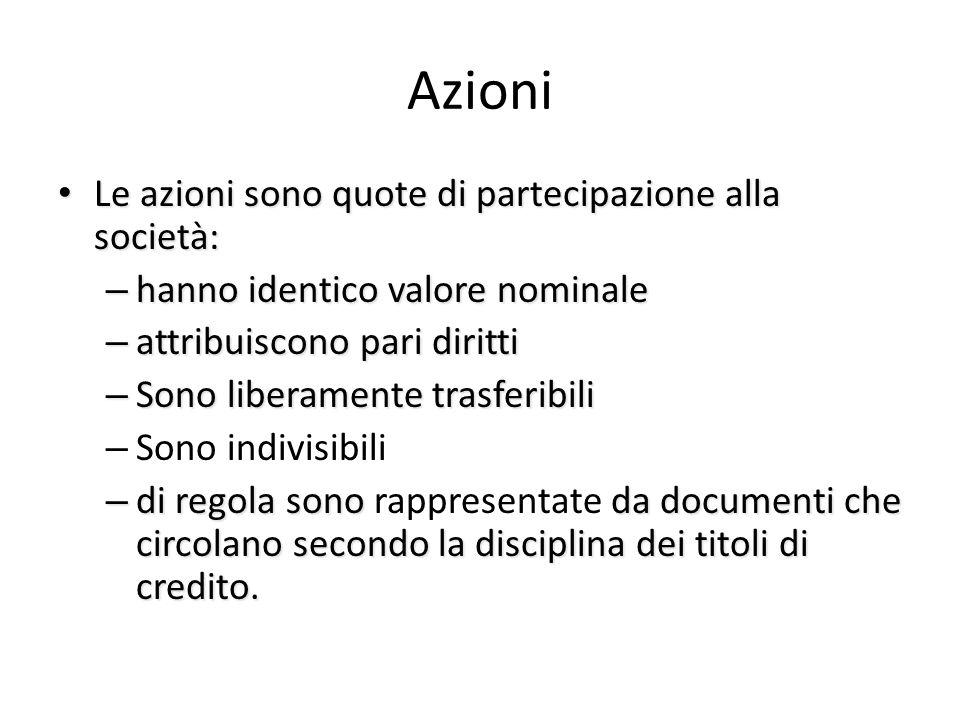 I conferimenti Si conferiscono – Denaro – Beni in natura se l'atto costitutivo lo consente (per garantire che il valore ad essi assegnato sia veritier