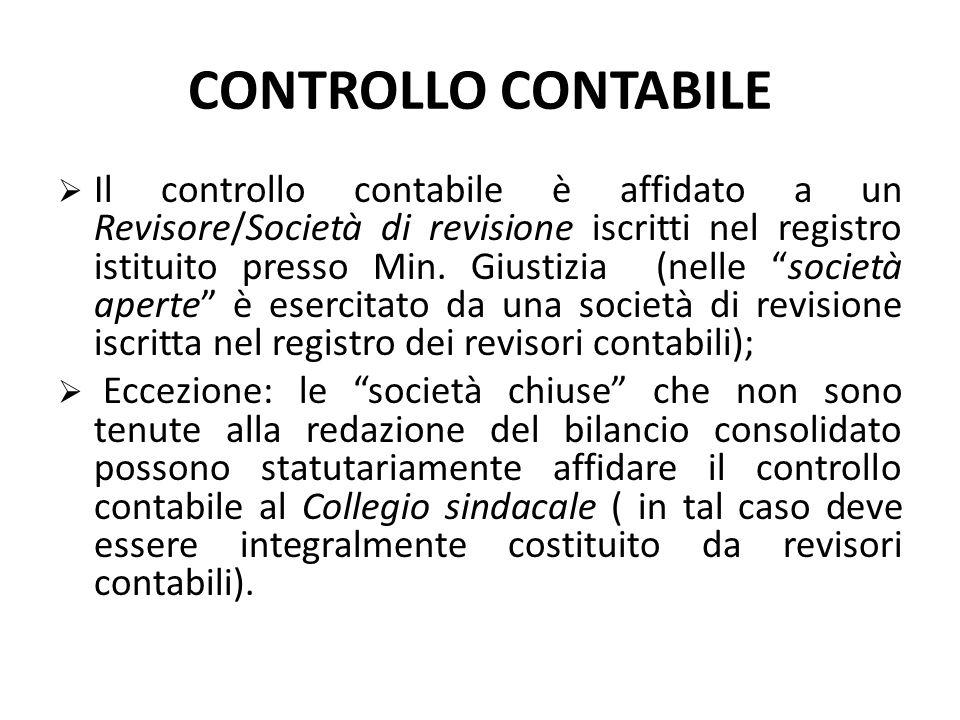 COLLEGIO SINDACALE  Il controllo sugli amministratori è affidato al Collegio sindacale che vigila sull'osservanza della legge, dello statuto e sui pr