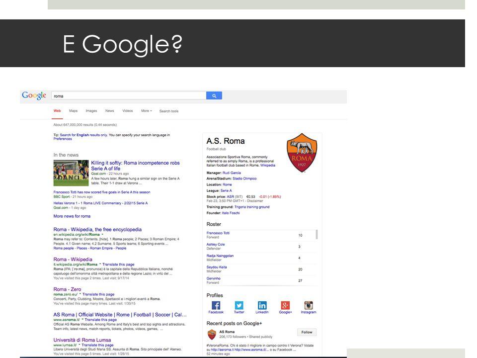 E Google?