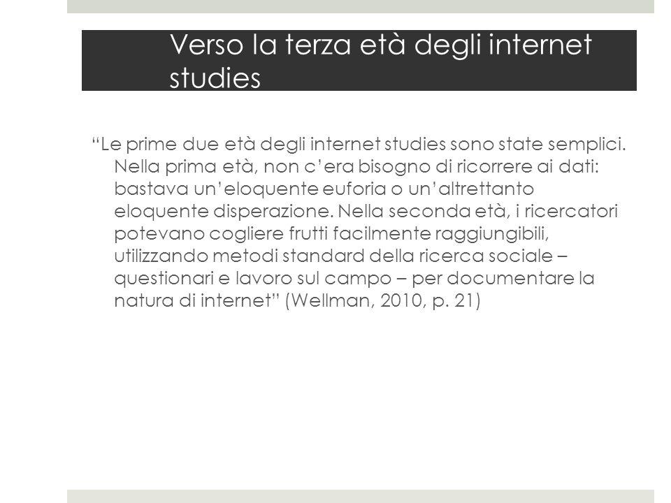 """Verso la terza età degli internet studies """"Le prime due età degli internet studies sono state semplici. Nella prima età, non c'era bisogno di ricorrer"""