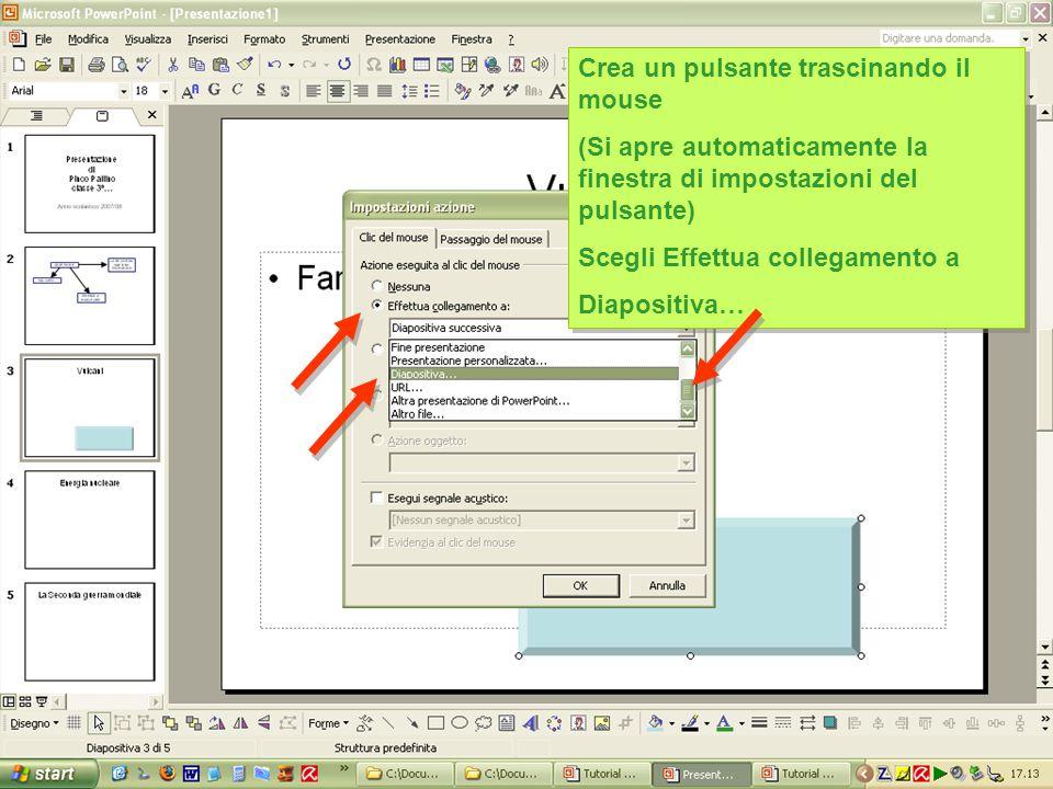 Conviene creare una cartella per i files utili e sistemarla in una cartella a fianco del file della presentazione Conviene creare una cartella per i files utili e sistemarla in una cartella a fianco del file della presentazione