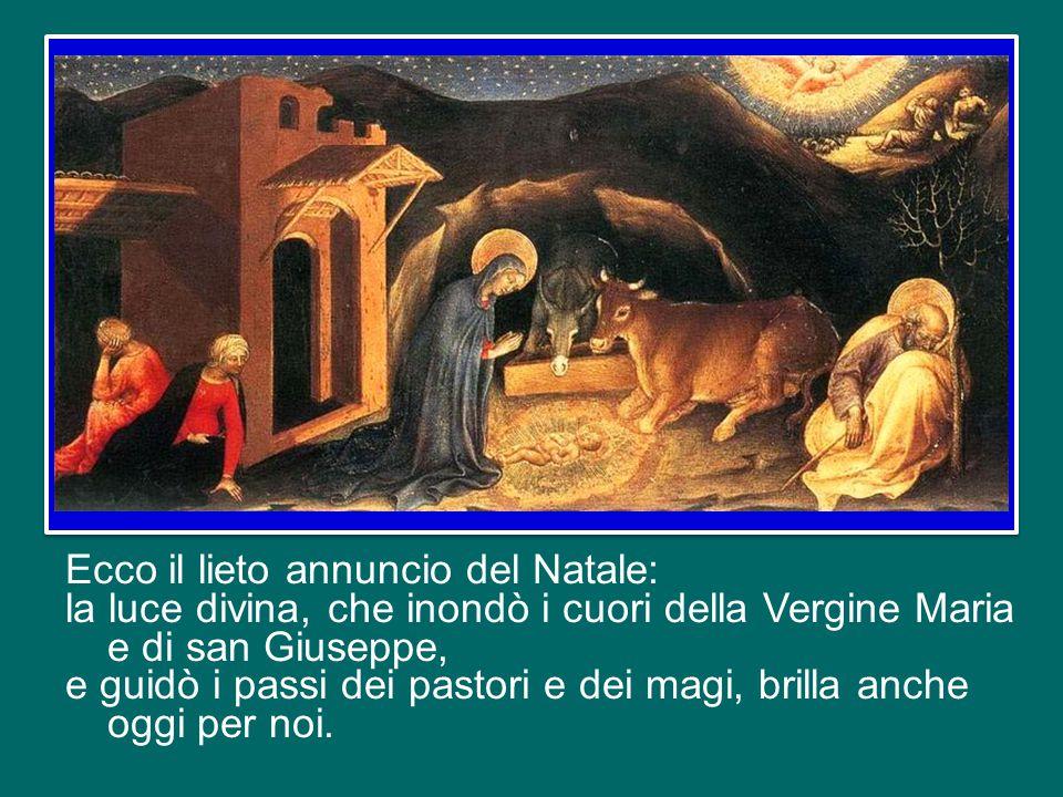 Questa prossimità di Dio all'uomo, ad ogni uomo, ad ognuno di noi, è un dono che non tramonta mai.