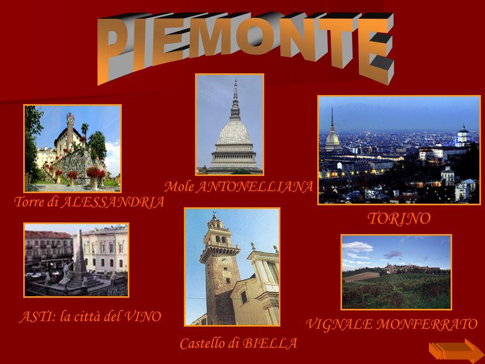 Castello di BIELLA Torre di ALESSANDRIA TORINO ASTI: la città del VINO Mole ANTONELLIANA VIGNALE MONFERRATO