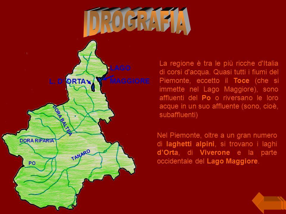 La regione è tra le più ricche d Italia di corsi d acqua.