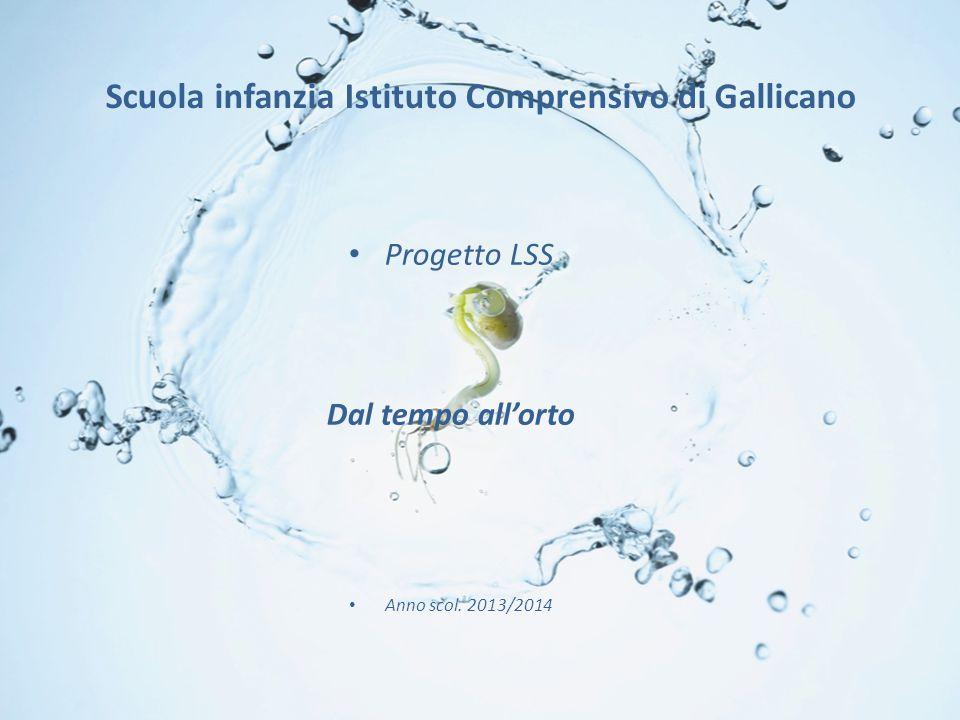 Scuola infanzia Istituto Comprensivo di Gallicano Progetto LSS Dal tempo all'orto Anno scol.