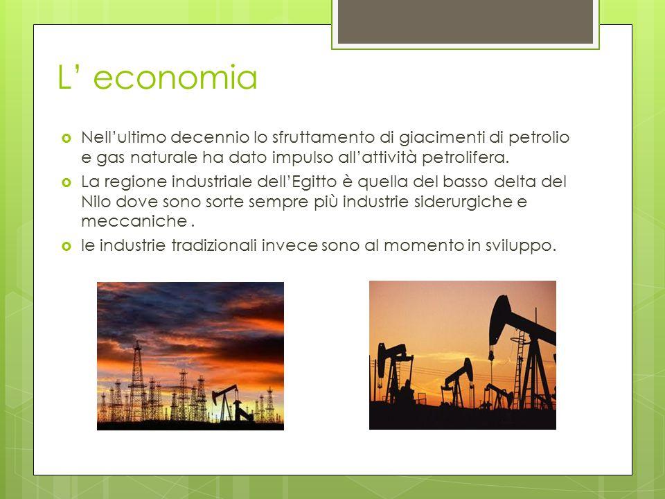 L' economia  Nell'ultimo decennio lo sfruttamento di giacimenti di petrolio e gas naturale ha dato impulso all'attività petrolifera.  La regione ind