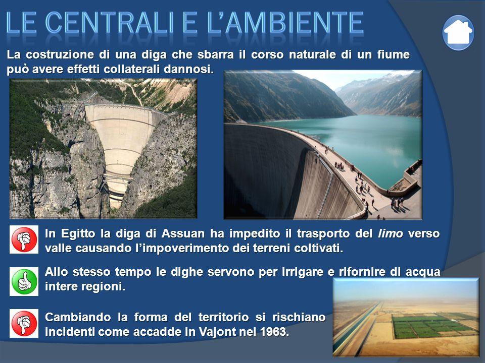 La costruzione di una diga che sbarra il corso naturale di un fiume può avere effetti collaterali dannosi. In Egitto la diga di Assuan ha impedito il