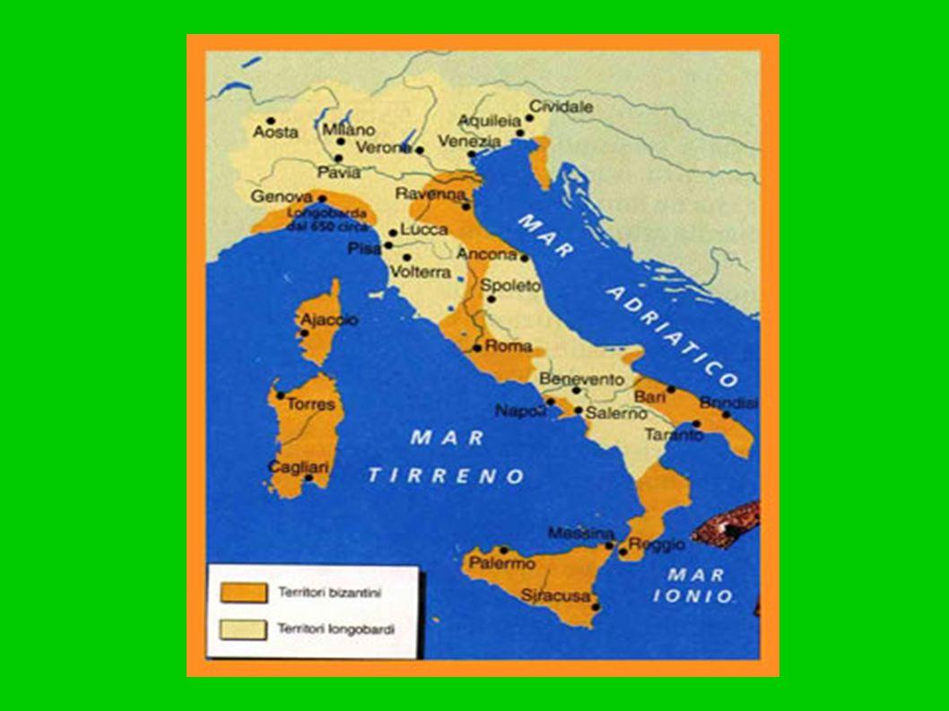 I Longobardi si organizzano in ducati Insediamenti longobardi in Italia.