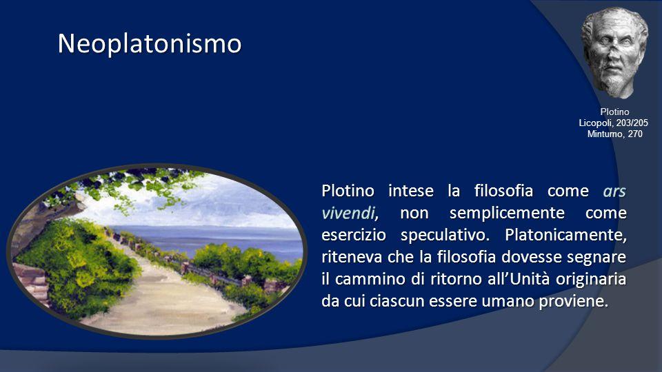 Neoplatonismo Neoplatonismo Plotino Licopoli, 203/205 Minturno, 270
