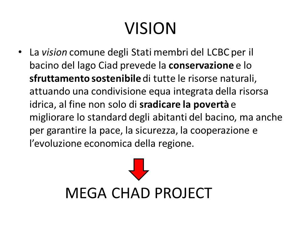 VISION La vision comune degli Stati membri del LCBC per il bacino del lago Ciad prevede la conservazione e lo sfruttamento sostenibile di tutte le ris