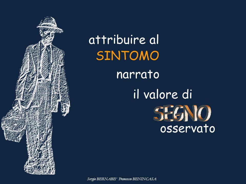 attribuire al SINTOMO il valore di osservato narrato Sergio BERNABE' Francesco BENINCASA