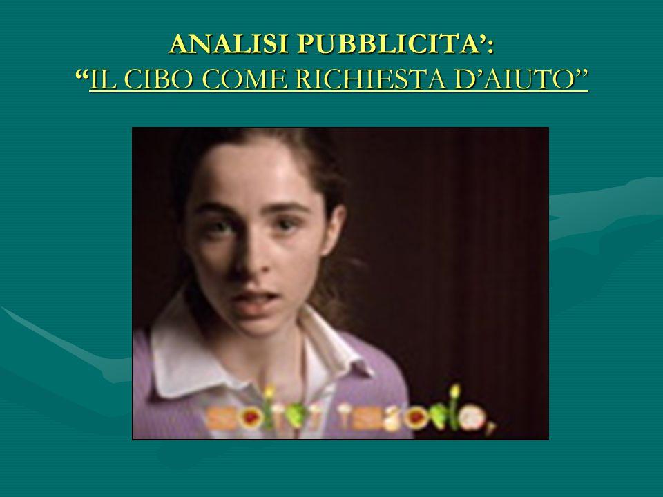 """ANALISI PUBBLICITA': """"IL CIBO COME RICHIESTA D'AIUTO"""""""