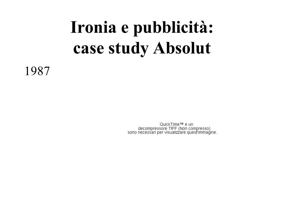 Ironia e pubblicità: case study Absolut 1987