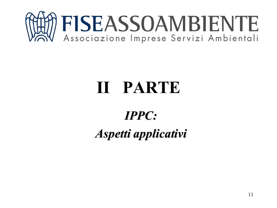 11 II PARTE IPPC: Aspetti applicativi