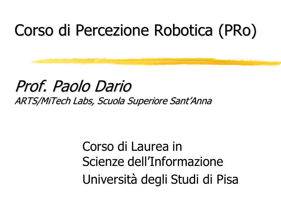 Corso di Percezione Robotica (PRo) Prof.