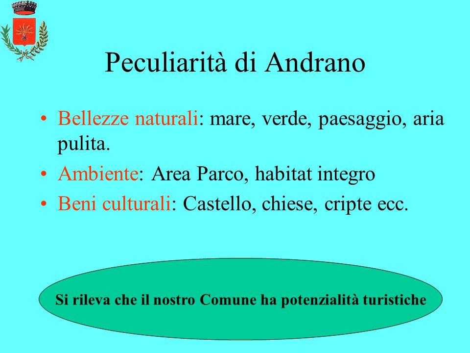 Peculiarità di Andrano Bellezze naturali: mare, verde, paesaggio, aria pulita.