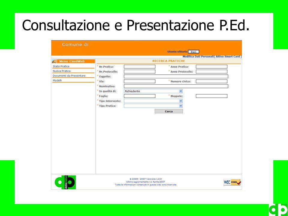 Consultazione e Presentazione P.Ed.