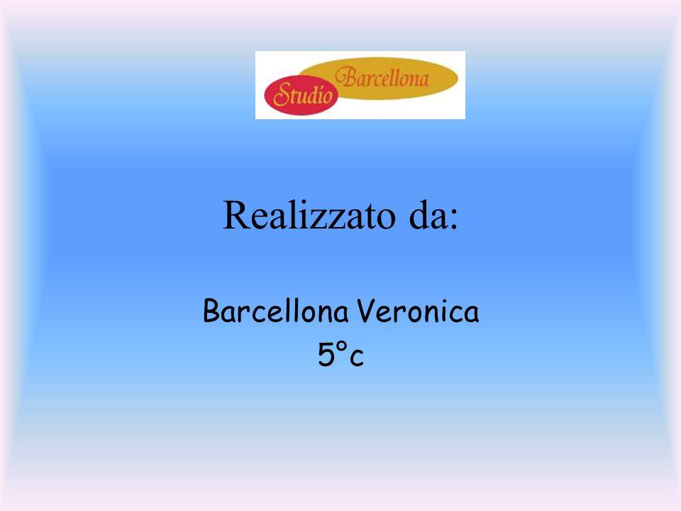 Realizzato da: Barcellona Veronica 5°c