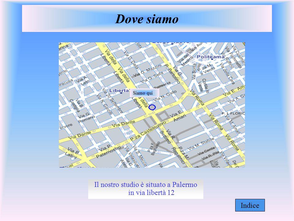 Il nostro studio è situato a Palermo in via libertà 12 Dove siamo Siamo qui Indice