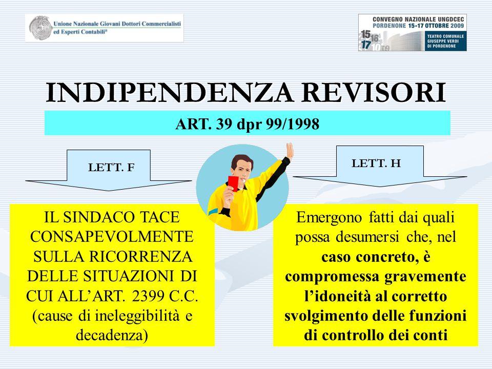 INDIPENDENZA REVISORI ART.