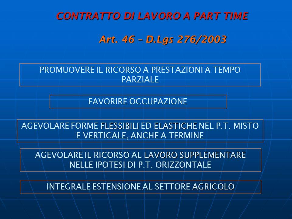 LAVORO ACCESSORIO (art.70 e segg. D.Lgs. N.276/03) LAVORO ACCESSORIO (art.