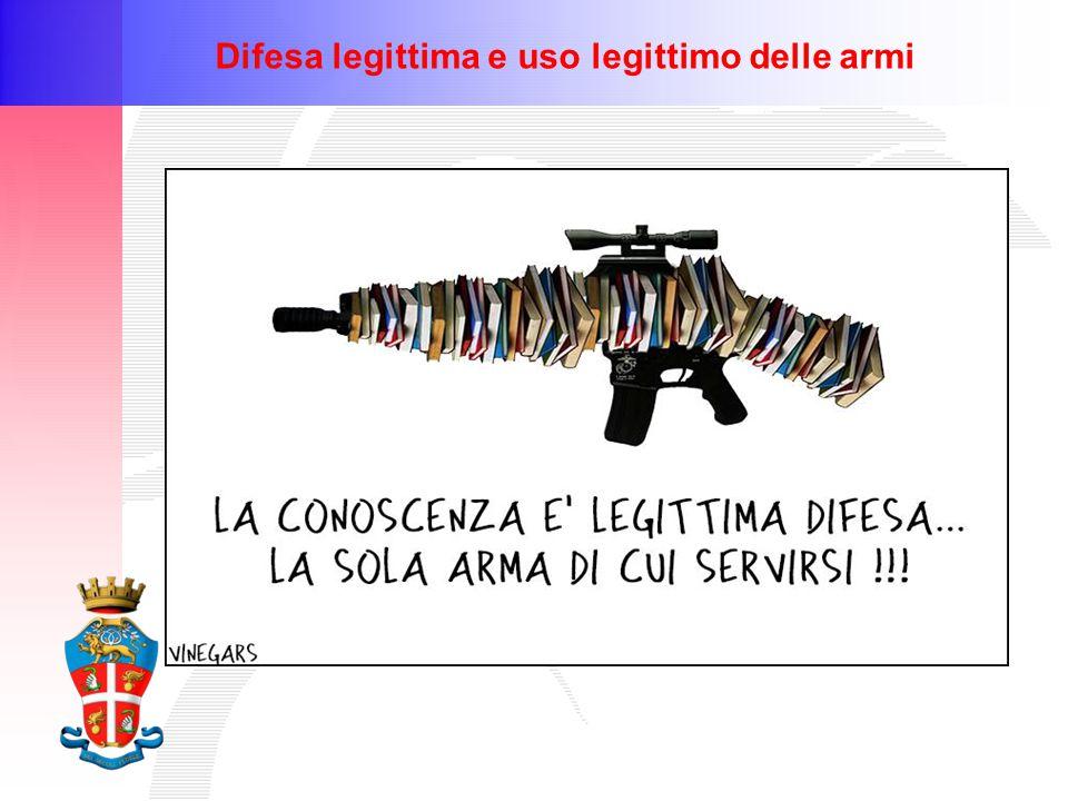 Difesa legittima e uso legittimo delle armi