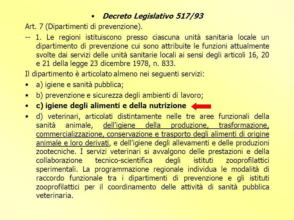 IL CONTROLLO UFFICIALE IN ITALIA L'AUTORITA' COMPETENTE E' IL MINISTERO DELLA SALUTE LE REGIONI E LE PROVINCE AUTONOME LE AZIENDE SANITARIE LOCALI