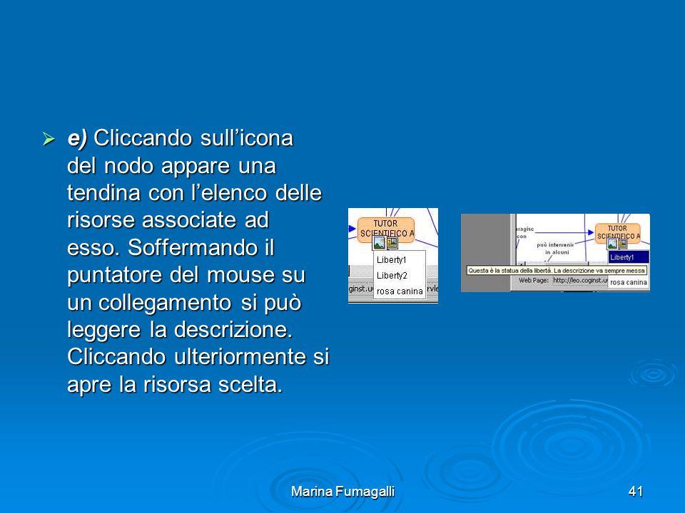 Marina Fumagalli41  e) Cliccando sull'icona del nodo appare una tendina con l'elenco delle risorse associate ad esso.
